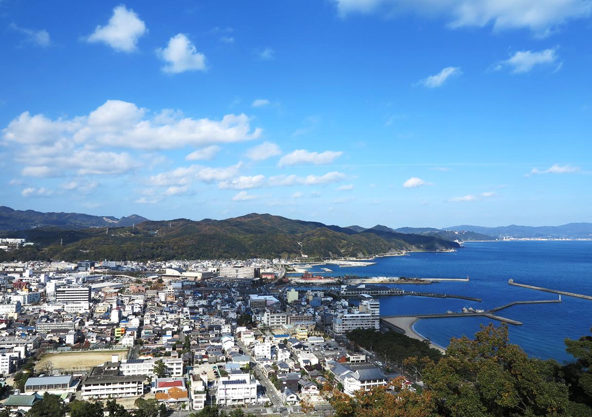 淡路島 洲本城からの景色