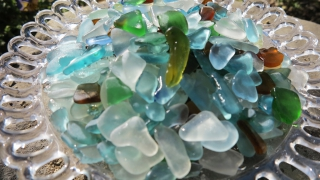 大浜海岸のシーグラス