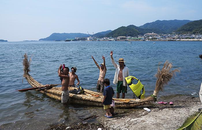 淡路島 成ヶ島 ハマボウ祭り 葦の船