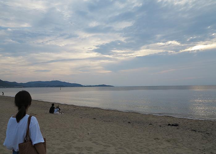 慶野松原の海岸