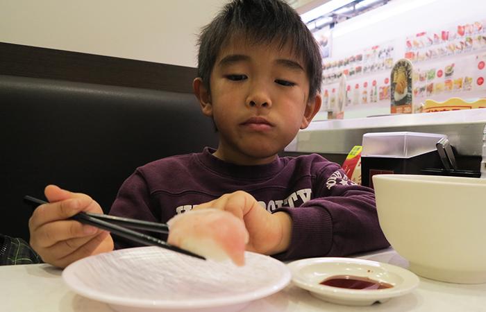 長男とかっぱ寿司