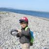 海で息子と探検できる幸せ in 生石