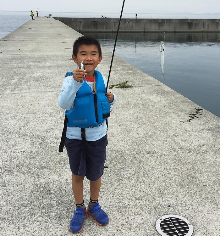 魚を釣った友晴
