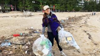 大浜海岸で清掃活動