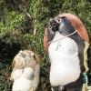 ずっと気になっていたR28沿いの狸は、由緒ある狸だった。淡路市佐野にある「柴右衛門