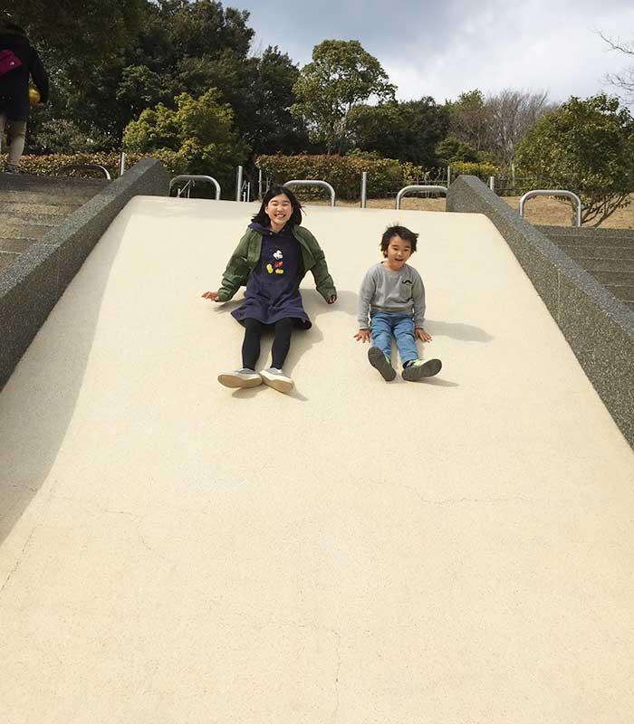 淡路島公園の石のすべり台