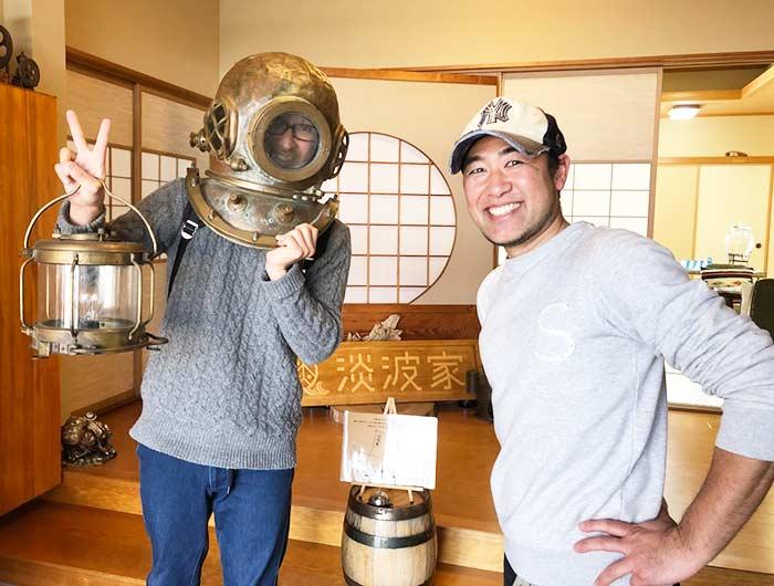 淡波家で上田さんと撮影