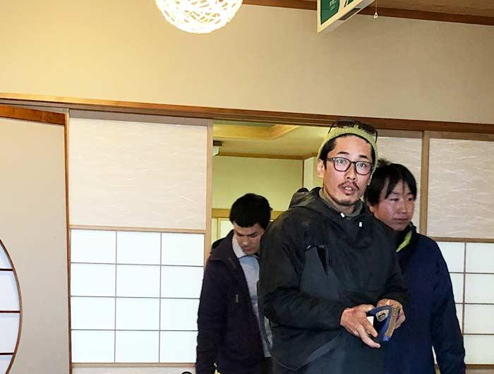 淡波家で大村さん