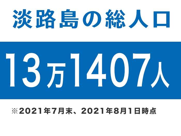 淡路島の総人口は、13万1407人