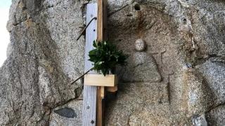 淡路島 弘法大師の彫った像