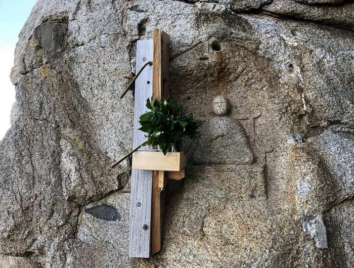 水の大師 石に彫られた仏像