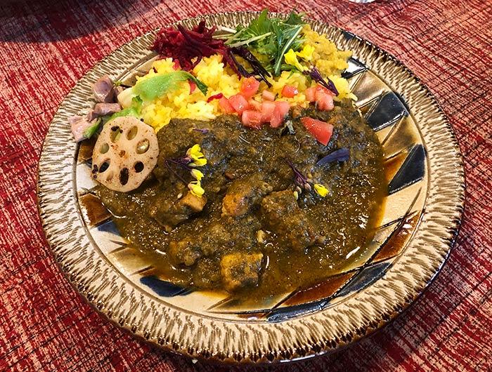 淡路島 mong curry(モンカレー)のほうれん草ポークカレー