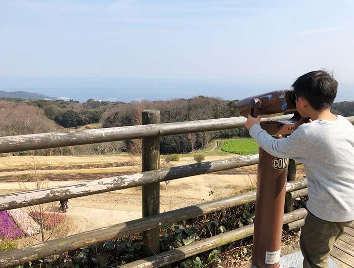 淡路島 あわじ花さじき 望遠鏡