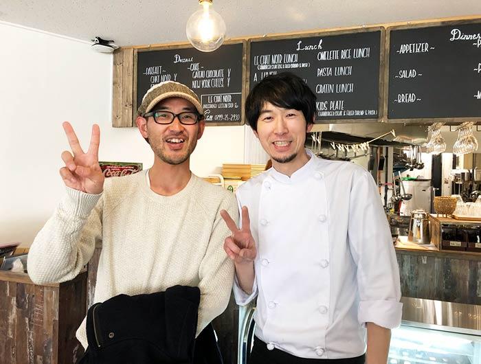 ルシャノワールの加藤さんと記念撮影