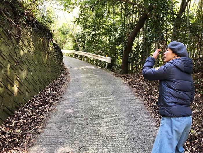 淡路島 御井の清水の水汲みルートの道中