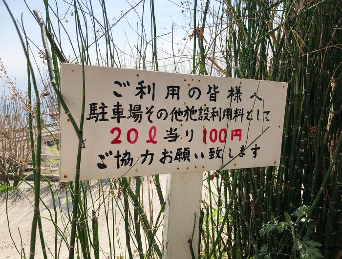 御井の清水は、20リットル100円