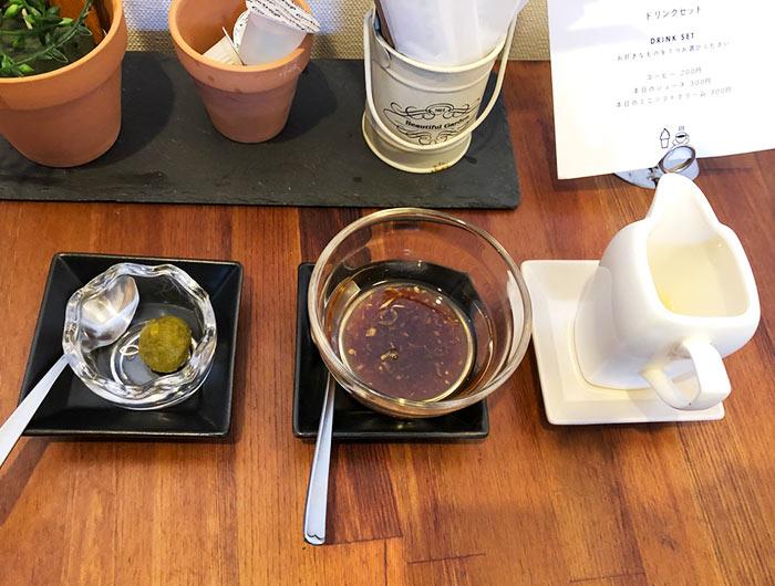 柚子胡椒 焦がしバター レモン果汁