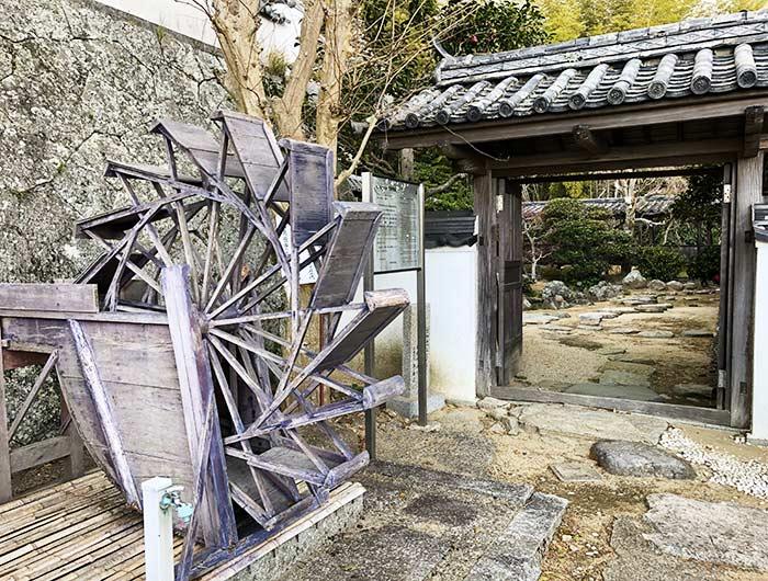 妙勝寺の庭園入り口
