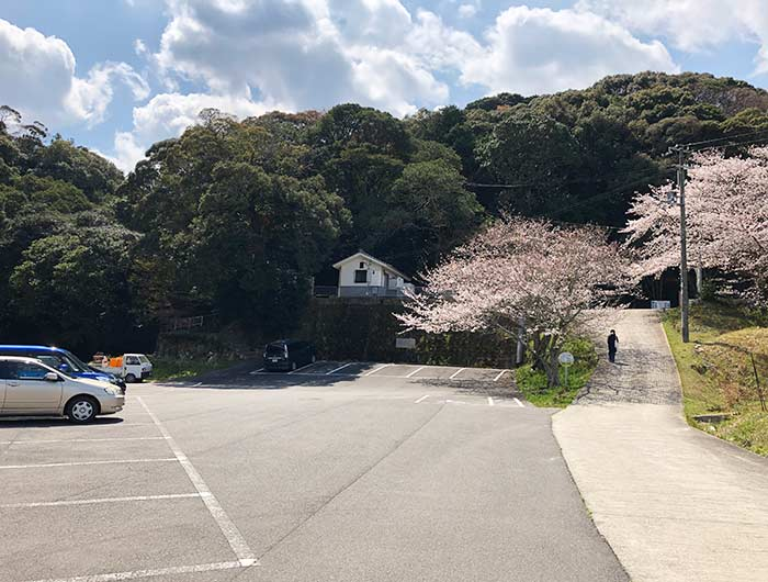 鮎屋の滝の駐車場
