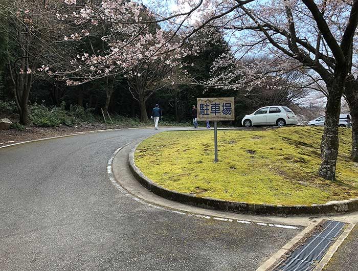 諭鶴羽ダムの二番目の駐車場