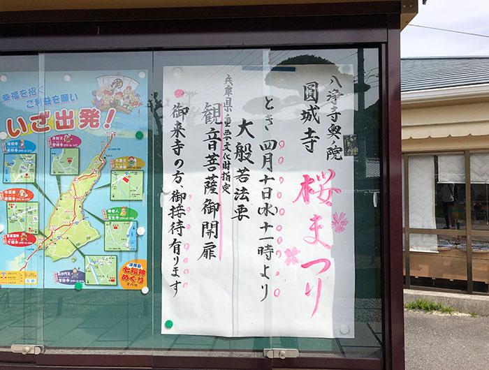 圓城寺の桜まつりポスター