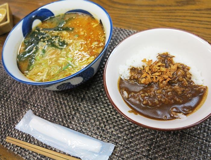 淡波家 味噌ラーメン ミニカレー丼