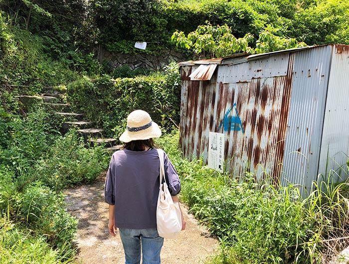自凝神社(おのころ神社)神体山の案内口