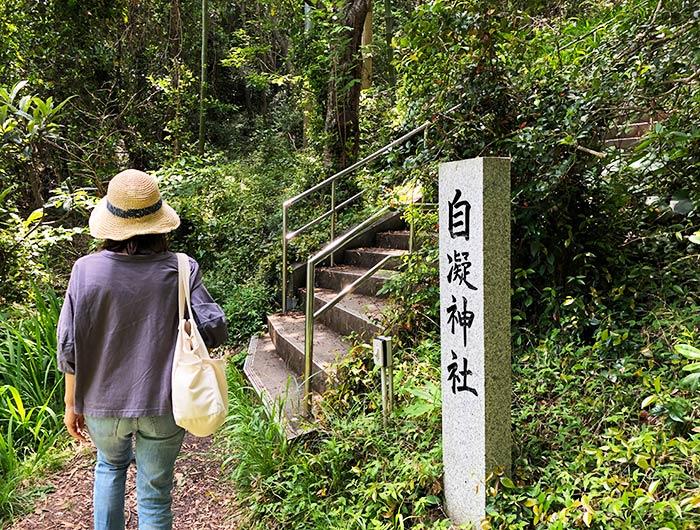 沼島 神体山 自凝神社(おのころ神社)