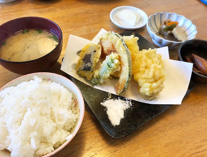 あさやま 鱧天ぷら定食