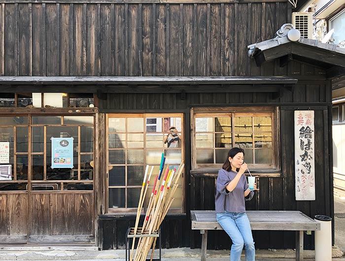 吉甚バッタリカフェで国生みソーダフロートを飲む