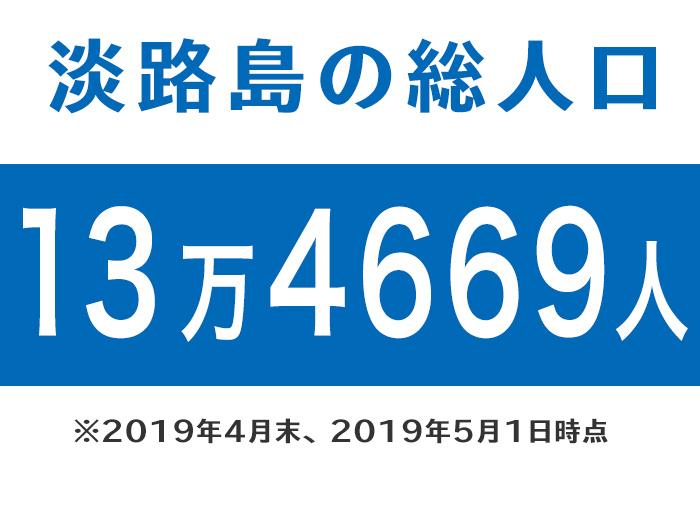 淡路島の総人口 2019年4月末時点
