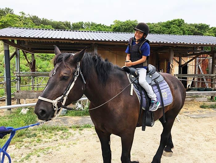 シェアホースアイランド 乗馬体験の様子