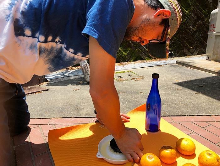 淡路なるとオレンジ100%ジュースを作成