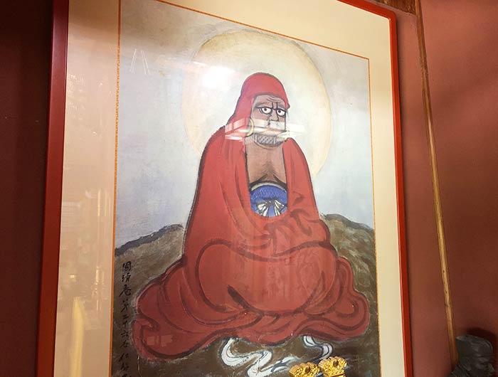 国清禅寺 達磨大師