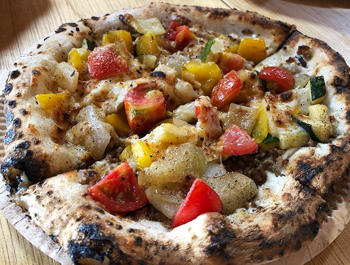 グリナリウム蔵の淡路島ピザ 野菜