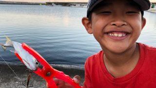 子供とメッキ釣り