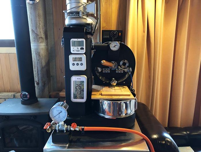 中野珈琲豆店にある焙煎機