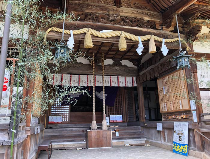 松帆神社の拝殿