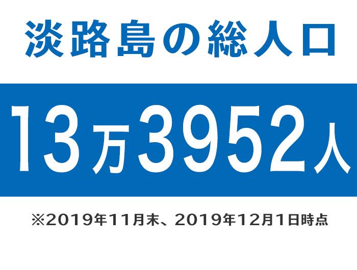 淡路島の総人口は、13万3952人