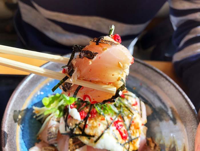 サワラ炙り山かけ丼