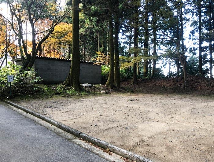 常隆寺の駐車場