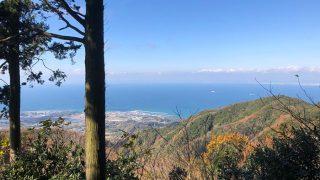 常隆寺山の頂上からの眺望