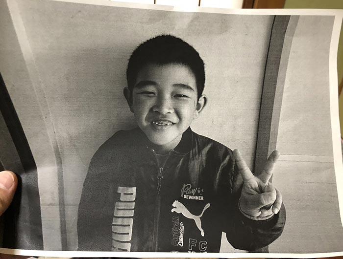 息子の写真