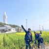 淡路島でロードバイクに家族で初挑戦❗️里山散歩コース13kmは、都会では味わえない爽快