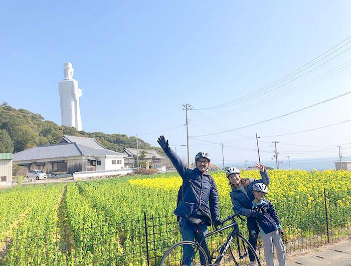 淡路島で家族サイクリング
