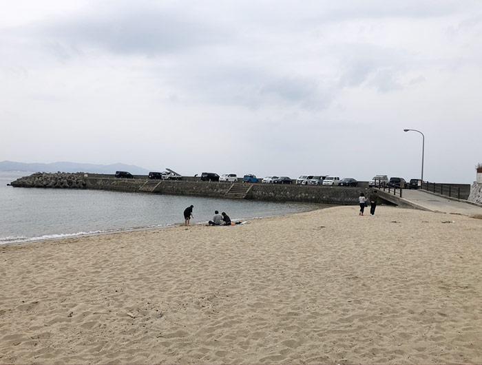 大浜海水浴場の千畳敷