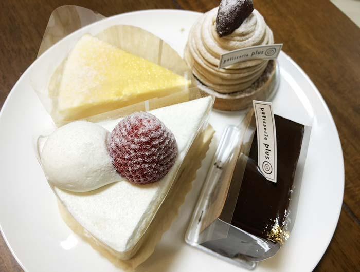 パティスリープリュスのケーキ