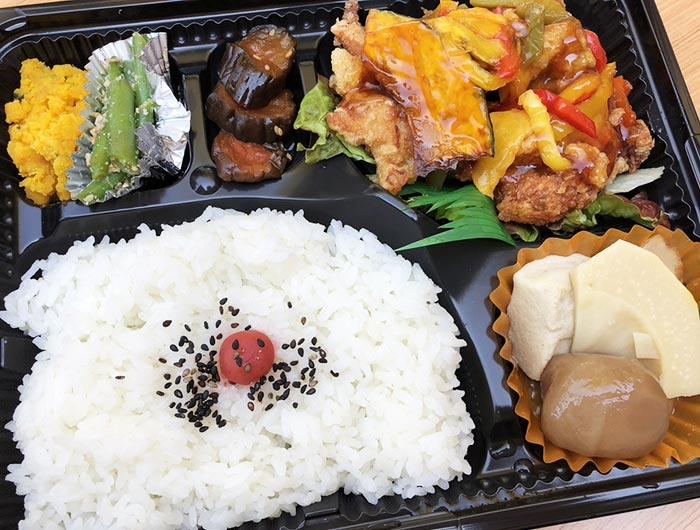 nana弁当(鶏唐野菜甘酢あん)