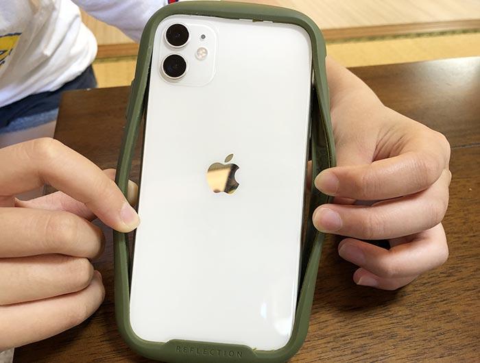 iFaceのフレームのみをiPhoneに装着
