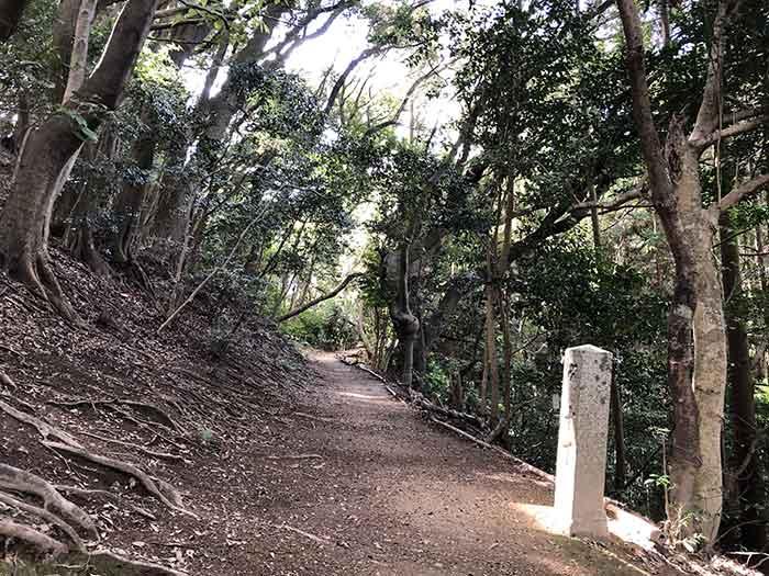 先山の登山道 10丁石